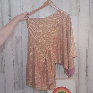 Hailey Adrianna Papell Rose Gold Dress Size 4